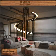 Spiral Pendant Ceiling Light Loft Modern Pendant Light Iron Minimalist Spiral Staircase L