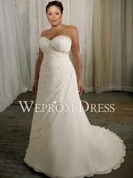plain white wedding dresses sweetheart strapless sleeveless chiffon white plus size lace up a