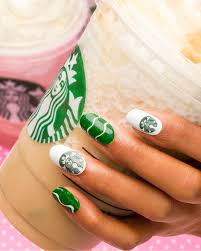 Food Nail Art Designs Geeking Out For These Starbucks Nails From Delishdotcom
