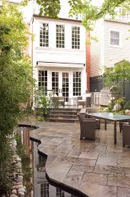 Building A Raised Patio Raised Patio Patio Traditional With Row House Garden Blue Watering
