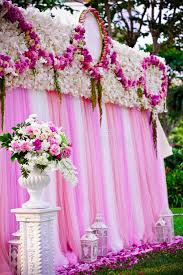 wedding backdrop outdoor pink wedding backdrop for party stock image image of flowers