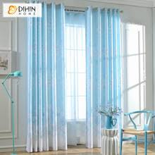 buy blue patterned curtains and get free shipping on aliexpress com