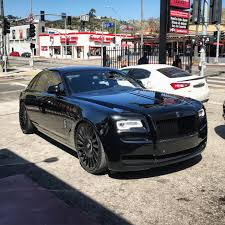 roll royce ghost all black rdbla black out ghost series 2 rdb la five star tires full