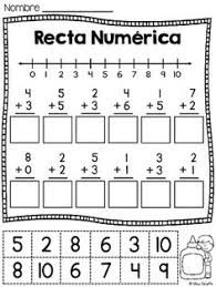 rectas numericas recta numerica 6 number lines cutting and
