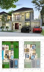 layout ruangan rumah minimalis denah rumah minimalis 2 lantai 100 150 dilengkapi 4 kamar tidur 3
