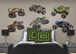 monster trucks races cartoon cars cartoon monster jam trucks collection wall decal shop fathead