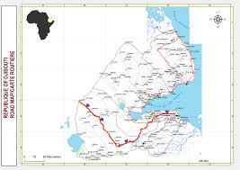 Djibouti Map File Djibouti Road Map Jpg Wikimedia Commons