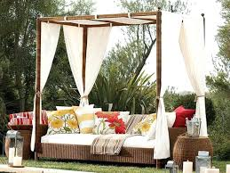 Moroccan Patio Furniture Daybeds Garden Swing Day With Rope Hanging On Solid Wooden Pole