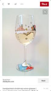 handpainted bubble bath wine glass diy wine diy gear display
