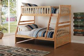 homelegance bartly twin over full bunk bed natural pine b2043tf
