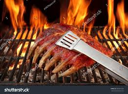 roasted country style baby back spare stock photo 383815303