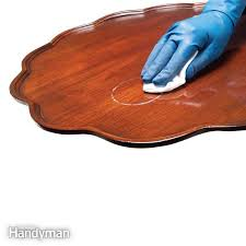 how to remove stains from wood table how to remove stains in wood furniture family handyman