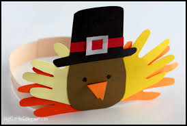 kid friendly thanksgiving crafts big k little g thanksgiving pilgrim and indian turkey headband hats