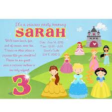 disney princess birthday party invitations alanarasbach com