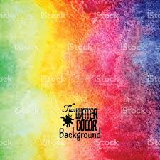 abstract vector hand drawn rainbow color watercolor background