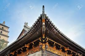 Red Roof Inn Muskegon by Detail Roof And Eave Of Buddhist Temple Xian China Stock Photo
