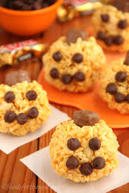 Baking Halloween Treats Jack O Lantern Rice Krispie Treats Amy U0027s Healthy Baking