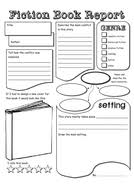 fiction book report template fiction non fiction book report by tokyo molly teaching
