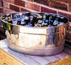 Oval Party Beverage Tub by Personalized Stainless Steel Party Beverage Tub For Wedding