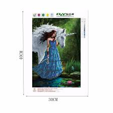 cross home decor diy 5d diamond mosaic embroidery beauty horse painting craft cross