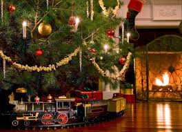 stylish design train for around christmas tree holiday decor