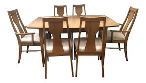 Dining Room Sets 6 Chairs by Kent Coffey Perspecta Series Dining Table U0026 6 Chairs Set Chairish