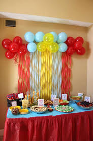 how to decorate birthday table party decoration ideas for mariannemitchell me