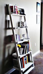 furniture home wood bookshelves ladder shelves modern elegant