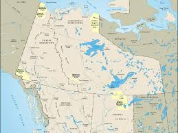 Alaska Road Map by Map Of Western Canada