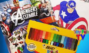 avengers assemble captain america coloring color book activity