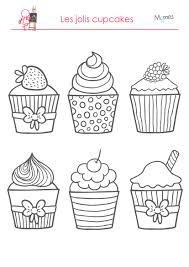 cupcake coloring page coloriages les délicieux cupcakes bullet doodles and embroidery