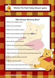 who knows baby shower winnie the pooh baby shower theme archives eppingprintables
