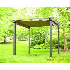 Canvas Patio Furniture Covers - canopy pergola gazebo patio outdoor shade tent cover canvas ebay