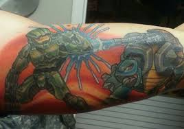 popular characters for halo tattoos design halo tattoos design on
