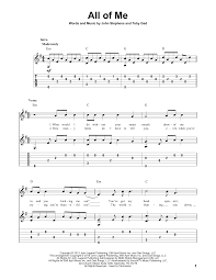 all of me guitar tab by john legend guitar tab u2013 160073
