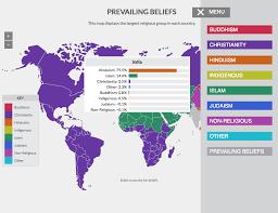 World Religions Map Lisa Rosenthal