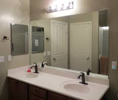 Bathroom Mirror Decorating Ideas Frameless Bathroom Mirrors Frameless Bathroom Mirror In Simple