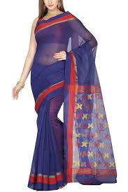 dhakai jamdani saree online royal blue zari dhakai cotton silk jamdani saree muslin