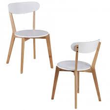 Esszimmerst Le Kunstleder Finebuy 2er Set Esszimmerstühle Mdf Weiß Design Holz Stühle Retro
