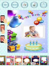 happy birthday frames to create cards with photos on the app store