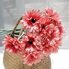 5x sweet home decor silk gerbera daisy bouquet beautiful