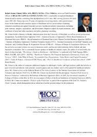 health capital consultants hcc curriculum vitae