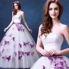 purple wedding dresses ebay