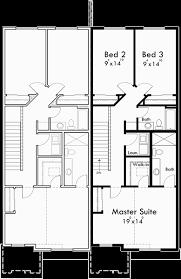 Floor Plans For Sloped Lots Duplex House Plans Walk Out Basement House Plans D 582
