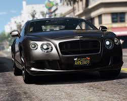 bentley continental 2016 black 2013 bentley continental gt add on tuning hq gta5 mods com