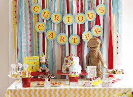 curious george birthday party pretty party