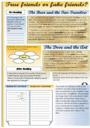 english teaching worksheets fables