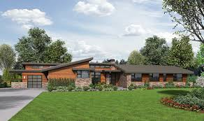 stunning contemporary ranch home plan 69510am architectural