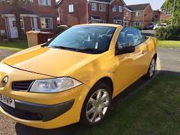 megane renault convertible 2008 renault megane 1 6 vvt dynamique convertible yellow in