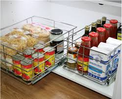 bottom mount baskets for kitchen storage tansel stainless steel the lowest part of your pantry cabinet is generally the hardest to access in your kitchen storage did you know bottom mount pull out wire baskets create